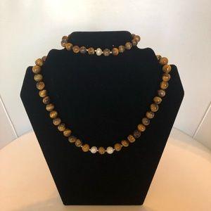 Jewelry - NEW Handmade Tiger's Eye Bracelet/Necklace Set